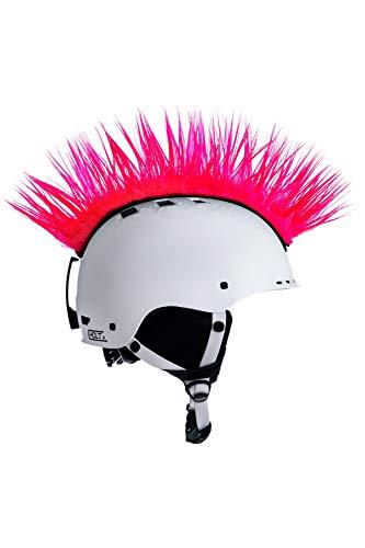 Crazy Ears Helm-Accessoires Irokese Mohawk Schwarz Weiß Pink Ski Snowboard, CrazyEars:Mohawk Pink