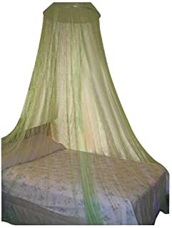 Lime Green Large Hoop Bed Canopy Mosquito Net Fit All Size Bed or Outdoor Events