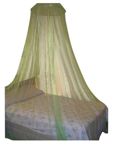 OctoRose Round Hoop Bed Canopy Netting Mosquito Net Fit Crib, Twin, Full, Queen, King (Lime Green)