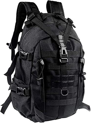Generic New Militär Rucksack Taktischer Rucksack wasserdicht Wanderrucksack Survival Rcksack 30-35L für Molle System rucksack herren Erwachsenenrucksack 1057 Schwarz