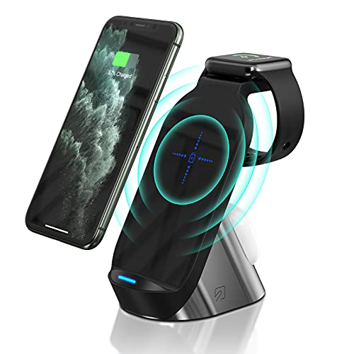 3 in 1 Wireless Charging Station, 15w Fast Wireless Charger Pad for Apple Devices, Compatible with iPhone, Apple Watch, All AirPods and More.