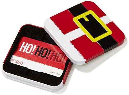 Amazon.de Geschenkkarte in Geschenkbox - 500 EUR (Weihnachtsmann)