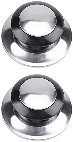 Pomo Para Tapadera de Sartén 65mm/ Pomo Para Tapaderas/Pomo Olla Universal/Tirador de Tapadera/Pomo Para Tapa Cacerola Aluminio+ PVC Pack2