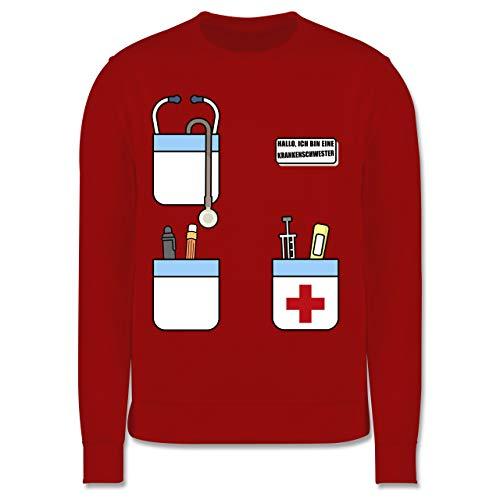 Shirtracer Karneval & Fasching Kinder - Hallo, ich Bin eine Krankenschwester - 152 (12/13 Jahre) - Rot - Pullover Krankenschwester - JH030K - Kinder Pullover