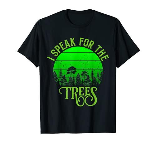 Vintage Retro Hablo por los árboles Día de la Tierra Todos los días Camiseta