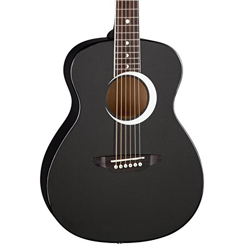 Luna Aurora Borealis 3/4 Acoustic Guitar, Black Pearl