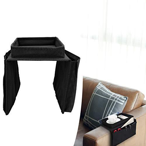 Surebuy Bolsa de Almacenamiento para sillón, Soporte de Almacenamiento para sofá y Duradero para bocadillos para Restaurante(Black)