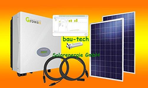 bau-tech Solarenergie 3000Watt Photovoltaikanlage für Eigenverbrauch Plug & Play Komplettset mit Montagematerial für Flachdach GmbH