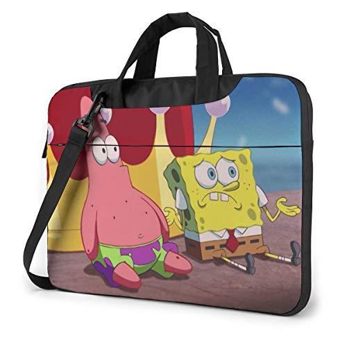 15.6 Inch Laptop Bag Patrick Star with Spongebob Laptop Briefcase Shoulder Messenger Bag Case Sleeve