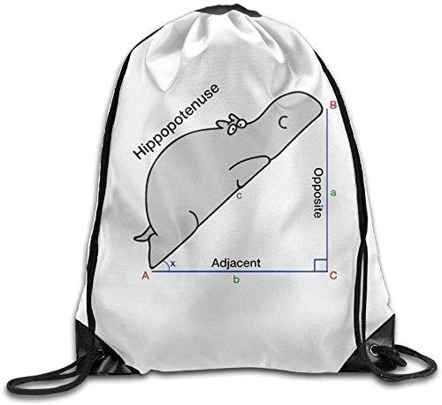 xinfub Zaino con Coulisse Math Hippo Triangle Gym String Bag alla Moda 4083