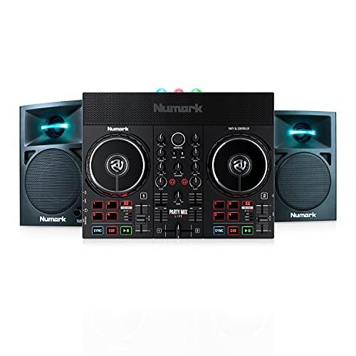 Numark Party Mix Live + N-Wave 360 - Set de DJ, Controlador DJ con...