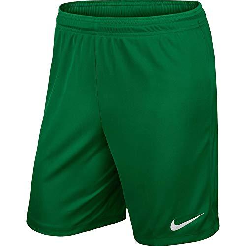 Nike Park II Knit Short NB , Pantaloncini Corti Bambino,Verde (Pine Green/White) M