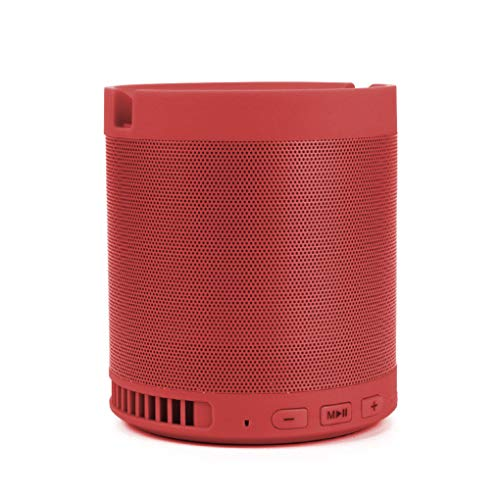 Bspower 7N1 Bluetooth Speaker with Mobile Stand FM Radio USB Port TF Slot Aux in Carry Handle & Mic Compatible Mobile Phones, Tablets, iPhone, iPad, Computers, Laptops,TV Panels, Gaming Consoles Etc.
