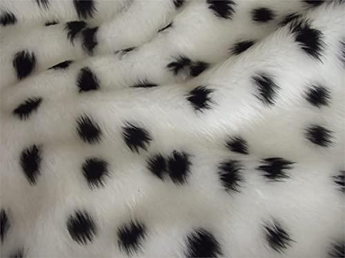 CRS Fur Fabrics 8800201462377 Kunstfell-Material, acryl, weiß, 1Mtr - 150cm x 100cm