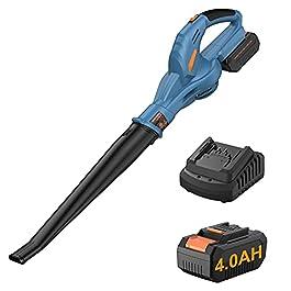 Souffleur à feuilles sans Fil, Souffleur de Feuilles sans Fil avec 20V 4.0Ah Batterie et Chargeur, 190km/h 13000/min…