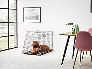 Savic Dog Portable Metal Dog Cage with Paw Protector,91 cm
