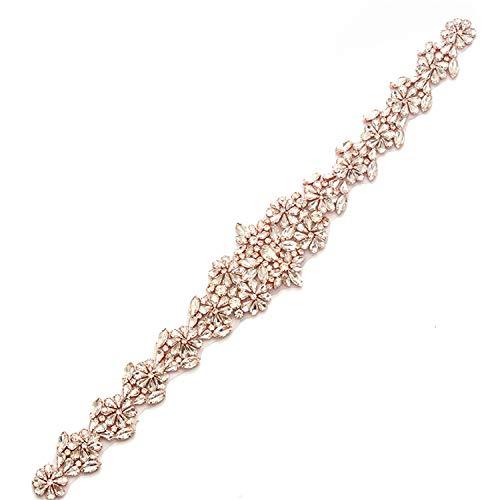 Apliques de cinturón de cristal fijo caliente para cinturón de satén faja diamante Rhinestone recorte Bling adición para vestidos de fiesta vestido de fiesta 1 pieza