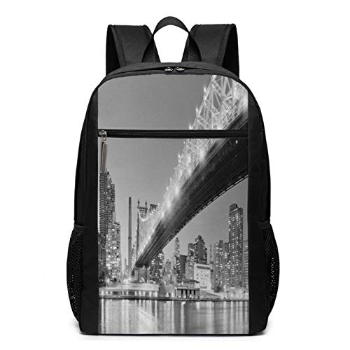 School Backpack Bridge Over East River, College Book Bag Business Travel Daypack Casual Rucksack for Men Women Teenagers Girl Boy