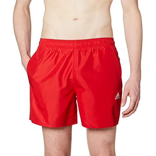 adidas GQ1086 SOLID CLX SH SL Swimsuit Mens Team Colleg red/White XL
