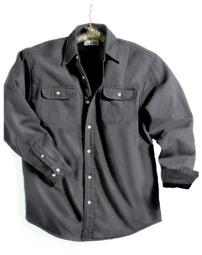 Men Large Tall Charcoal Denim Jacket