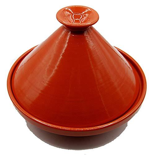 Tajine 3010201104 - Olla de terracota con plato étnico marroquí Tunisino de 27 cm de longitud