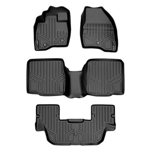 MAXLINER Floor Mats 3 Row Liner Set Black for 2011-2014 Ford Explorer Without...