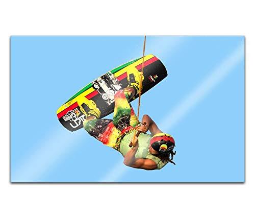 Acrylglasbilder 80x50cm wakeboarding waken wakeborden Sport Acryl Bilder Acrylbild Acrylglas Wand Bild 14H2300