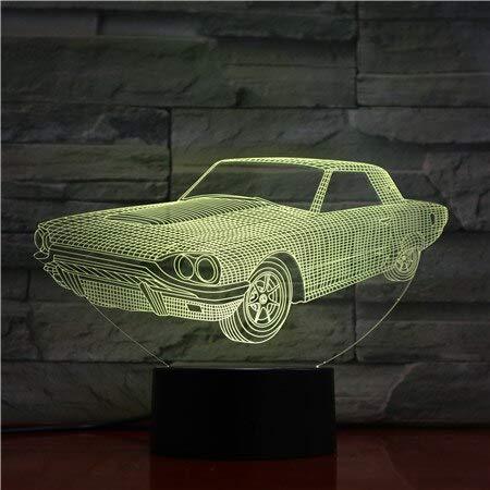 Altes Großvaterautonachtlichtfarbänderungstabellenlampen-Illusionsmehrfarbenlampen-Vatigeschenk