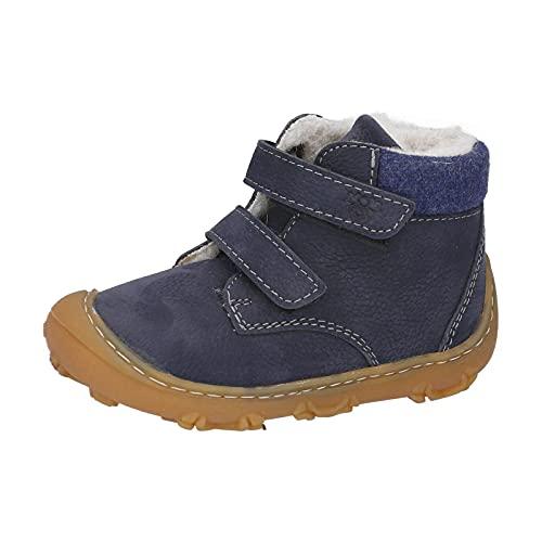 RICOSTA Jungen Boots NICO von Pepino, Weite: Weit (WMS),terracare,Barfuß-Schuh,Lauflernschuhe,Klettverschluss,See (184),24 EU / 7 Child UK