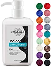 Keracolor Clenditioner ONYX Hair Dye - Depositing Color Conditioner Colorwash, Semi Permanent, Vegan and Cruelty-Free, 12 fl Oz