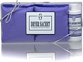 Le Blanc® Lavender Dryer Sachet 2-Pack with 2 FL. OZ. Bottle of Coordinating Specialty Wash, One Pack