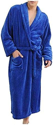 CanKun Hommes Femmes Doux Corail Polaire épaisseur Peignoir Robe de Bain Robe Chale Col Peignoir Parfait pour la Maison Loisirs Douche Baignade, 008, XXL