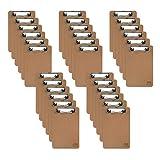 Mini Clipboard 6' x 9' | Small Clipboards | Memo Size Clipboard | Class Room Supplies (Pen not Included) | Mini Clipboards… (30)