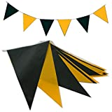 goodymax® Wimpelkette 10 m Schwarz-Gelb - viele weitere Farben & Farbkombinationen zur Auswahl