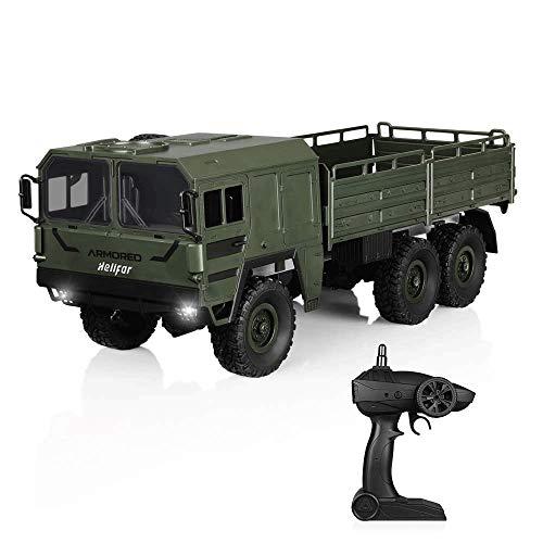 Mopoq RC Lkw Maßstab 1/16 6 WD 7,5 Mi/H Fernbedienung Militär Geländewagen 2,4G 4 CH RC Kinder Und Erwachsene Geschenke (militär Grün)