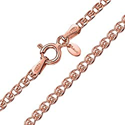 PREMIUM JEWELLERY - Crafted from 925 sterling silver and covered in 14 carat rose-gold tone overlay. Sturdy, durable spring clasp. Tight closure to reduce the chance of catching on fabrics or hair. QUALITY ASSURED – Designed to last a lifetime. Made ...