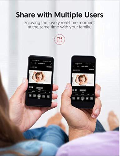 WLAN Kamera Indoor, Victure Dualband 2.4Ghz und 5Ghz Wi-Fi, 1080P Überwachungskamera WLAN, Babyphone mit Kamera, Pan Tilt, 2-Wege-Audio, IR Nachtsicht-Weiß