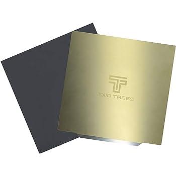 SODIAL Accesorios para Impresoras 3D 220X220Mm Cama Caliente Placa De Acero Plataforma Pegatina Magnetica para Reprap I3 Wanhao Anet A8 A6 Mk3 Ender-3 DIY