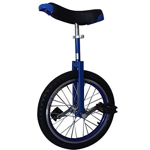 SSZY Monociclo Monociclo de La Rueda de 24 Pulgadas, Adultos Niños Grandes Profesionales Monociclos Grandes Adolescentes Masculinos, Altura 175-190cm (Color : Blue)