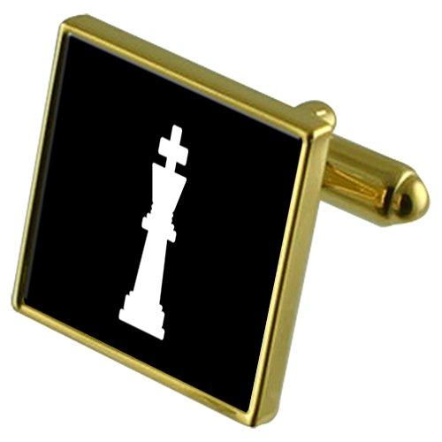 Select Gifts Rey ajedrez Tono Oro Gemelos Bolsa