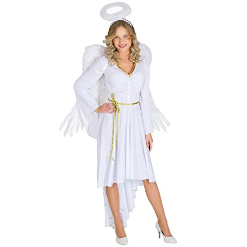 TecTake dressforfun Frauenkostüm sexy X-Mas Angel | Kleid in moderner Optik | sexy Brustraffung | inkl. Haarreifen & Bindegürtel (XXL | Nr. 300515)