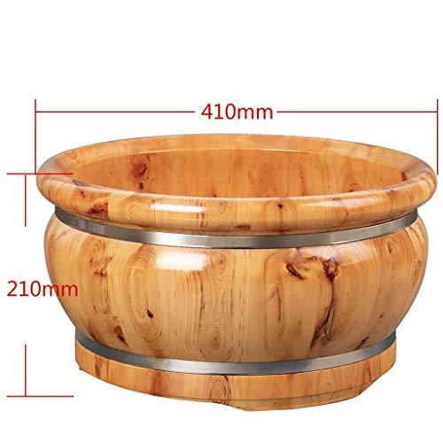 Affordable NJYT Foot spa Wooden Foot Bath Bowl,Foot Spa Tub Household Wash Basin Fumigation Barrel F...