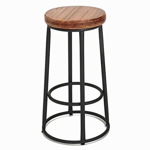 Idong kruk van smeedijzer – zitting van massief hout – basis van metaal – zithoogte 65/75 cm – voor keuken, bistro, café, pub Idong 75cm