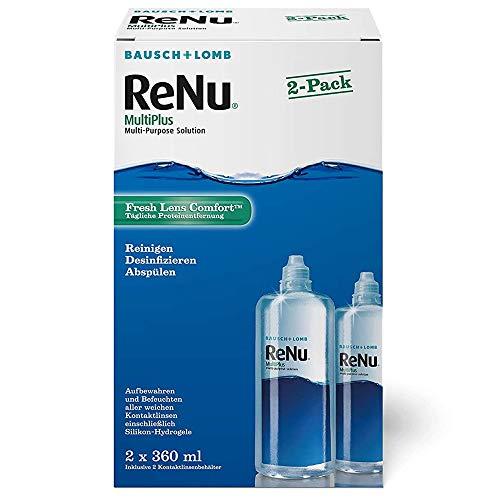 Bausch und Lomb ReNu MultiPlus Kontaktlinsenpflegemittel Kombilösung, weiche Linsen, 2er Pack, 2 x 360 ml