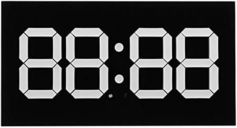 Xiaoqingren 3D Led Digital Wand Wecker WiFi Fernbedienung 14 Zoll Kalender Nachtlicht Für Zuhause Wohnzimmer,Schwarz-Weiss