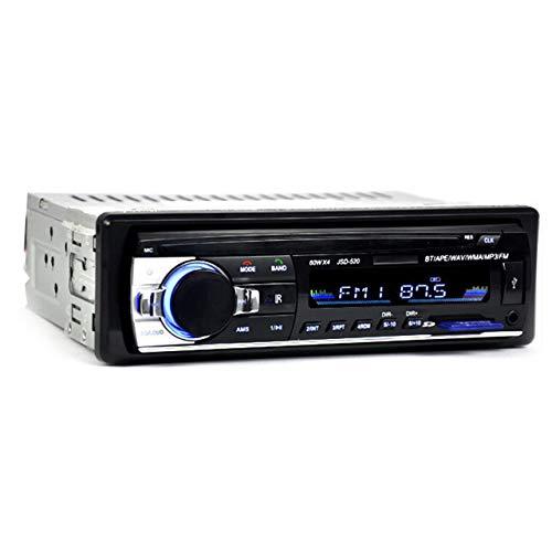 EmNarsissus Autoradio Auto Stereo Radio FM Aux Eingangsempfänger USB JSD-520 12V In-Dash 1 Din Auto MP3 Multimedia Player