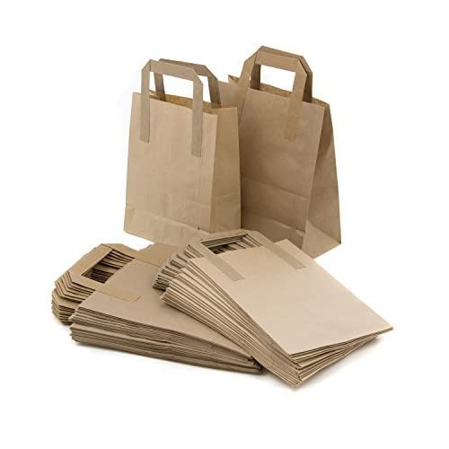 5be0d0c502af The Paper Bag Company 18 x 23 x 9 cm Paper Carrier Bags with Flat ...