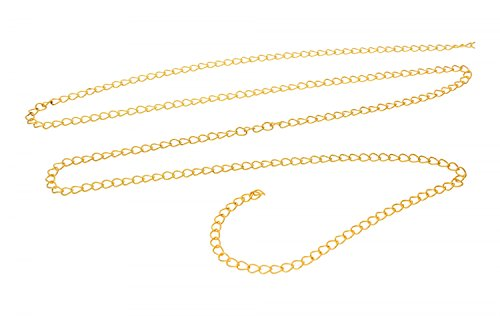 Metallkette Gliederkette - Bastelkette, Gold, 1 Meter #L30