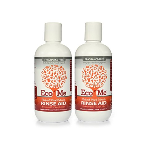 Eco-Me Fragrance-Free Automatic Dishwasher Rinse Aid with Vinegar and Citric Acid, 8 fl. oz. (Pack of 2)