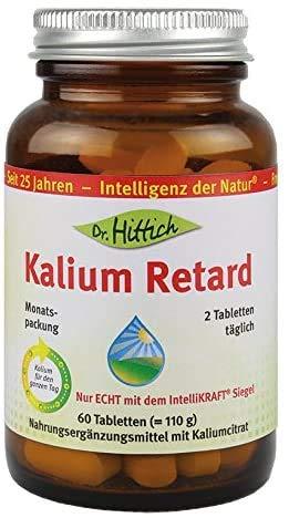 Kalium Retard - Versorgt Sie mit nur zwei Tabletten pro Tag rund um die Uhr mit 900 mg Kalium - Original vom Entwickler und Hersteller Dr. Hittich (Monatspackung)